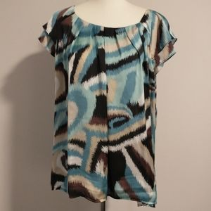 Signature By Larry Levine Top XL Blouse Shirt Pull